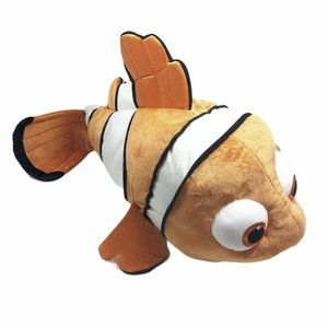 Disney Store Finding Nemo Clown Fish Stuffed Toy